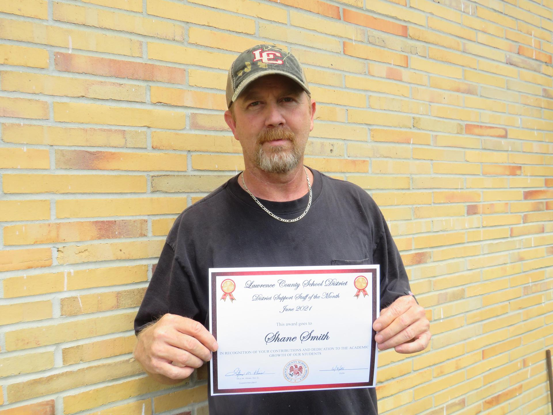 Support Staff of the Month June 2021 Shane Smith