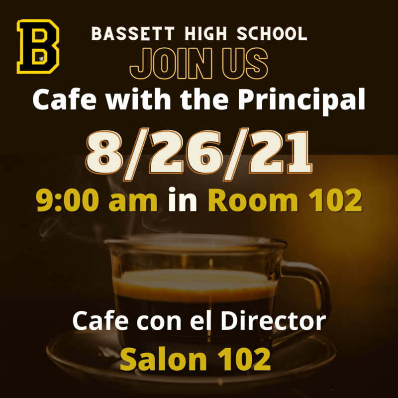 Coffee with the principal at 9am in room 102