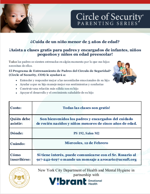 Parenting Class Flyer in Spanish