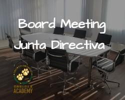 Board Meeting / Junta Directiva Featured Photo