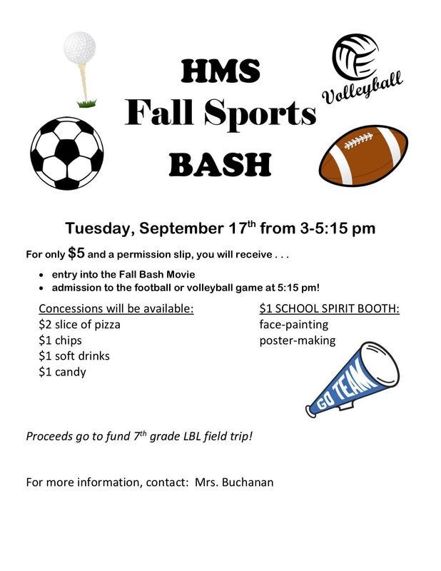 Fall Bash Poster