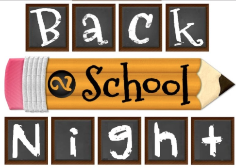 Back to School Night graphic in English