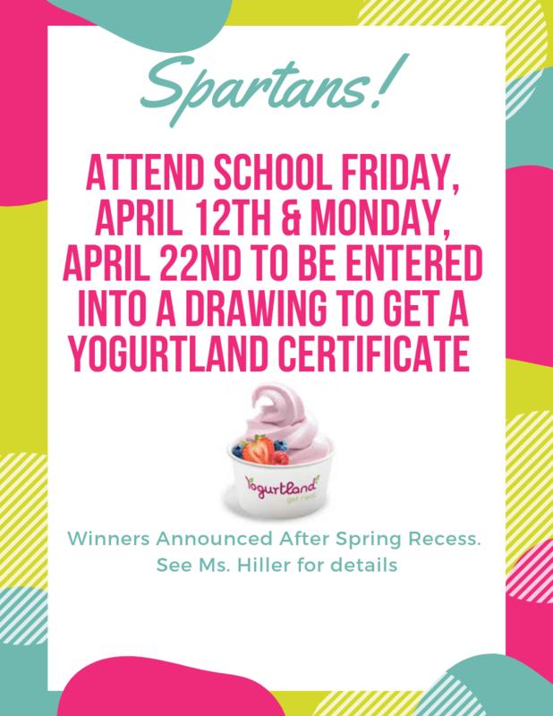 Yogurtland Spring 2019 Attendance Incentive Flyer .png