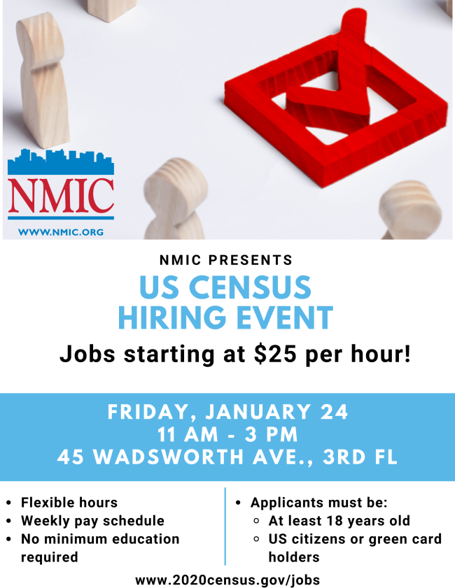 flyer for census hiring event