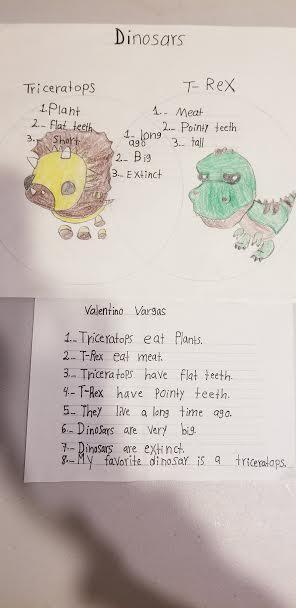 Valentina's dinosaur worksheet