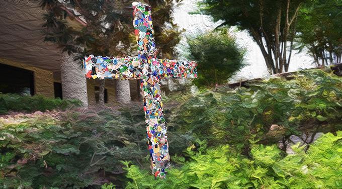 Cross on campus