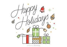 presents and happy Holiday saying