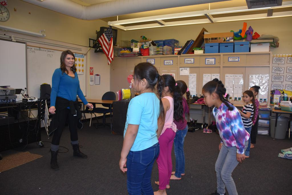 Teacher and Student's dancing