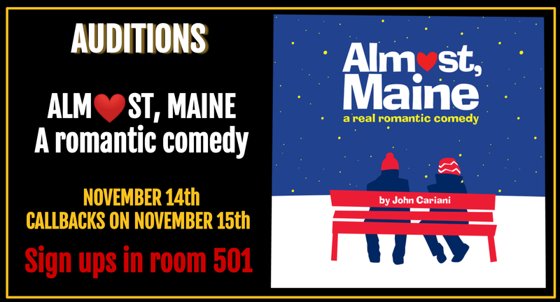 Auditions for Almost Maine Going on now