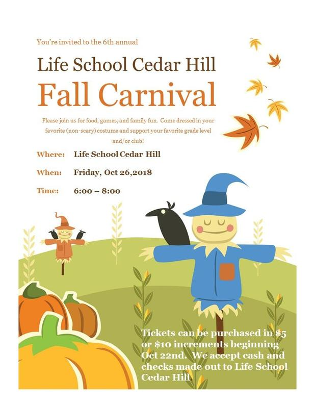 Fall Carnival October 26th