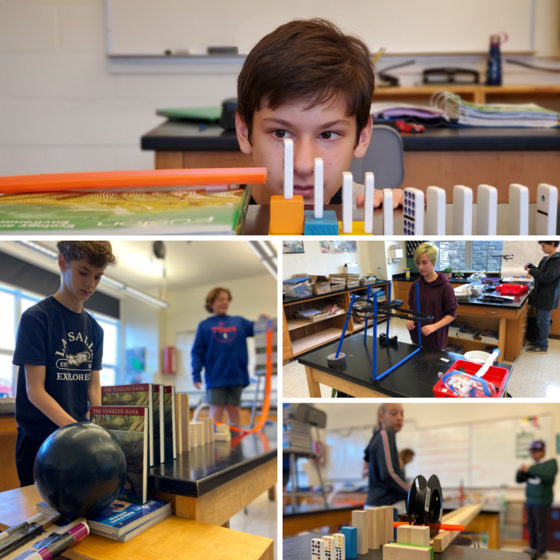 Students and their Rube Goldberg machines
