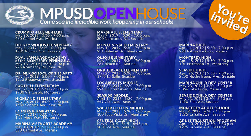 2019 MPUSD Open House Schedule Featured Photo