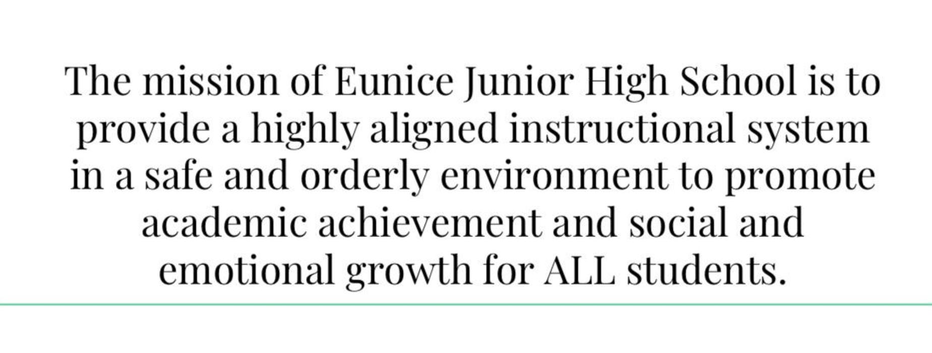 EJHS Mission Statement