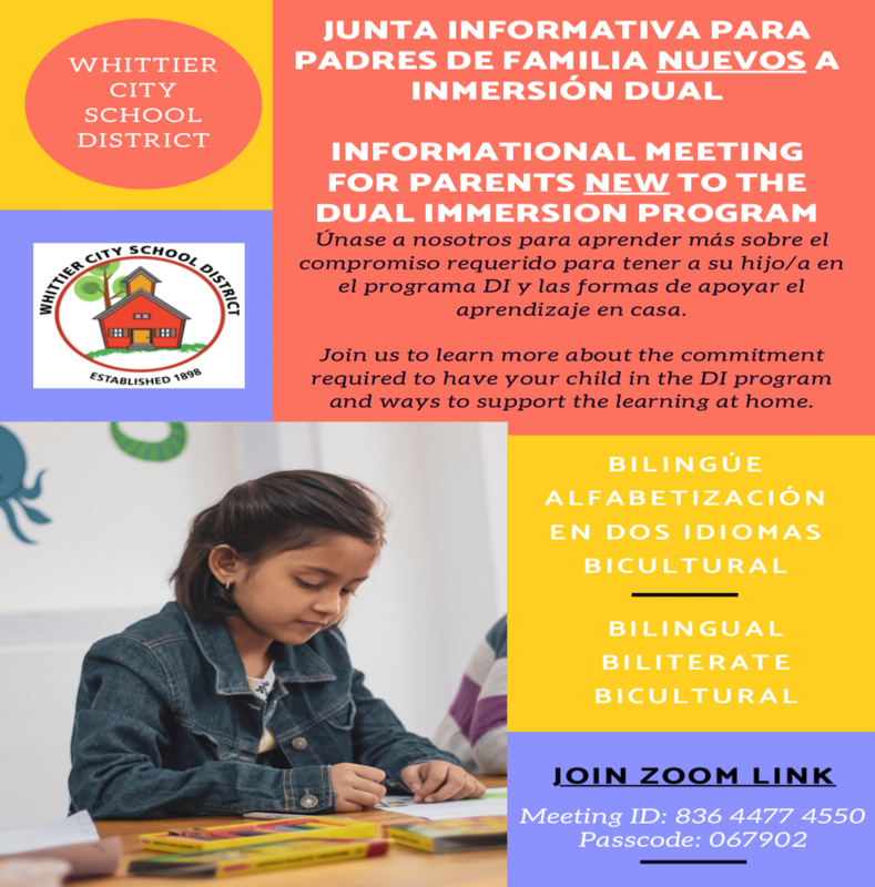 Dual Immersion Information Meeting Flyer