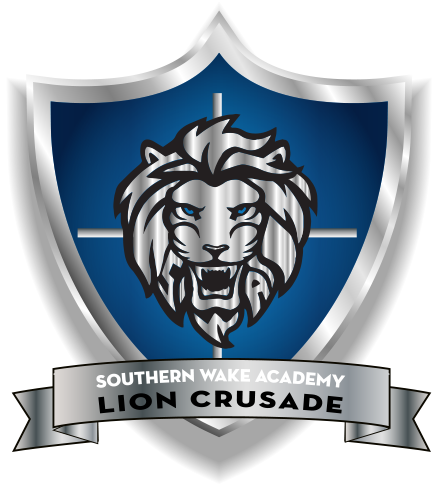 lion head with shield