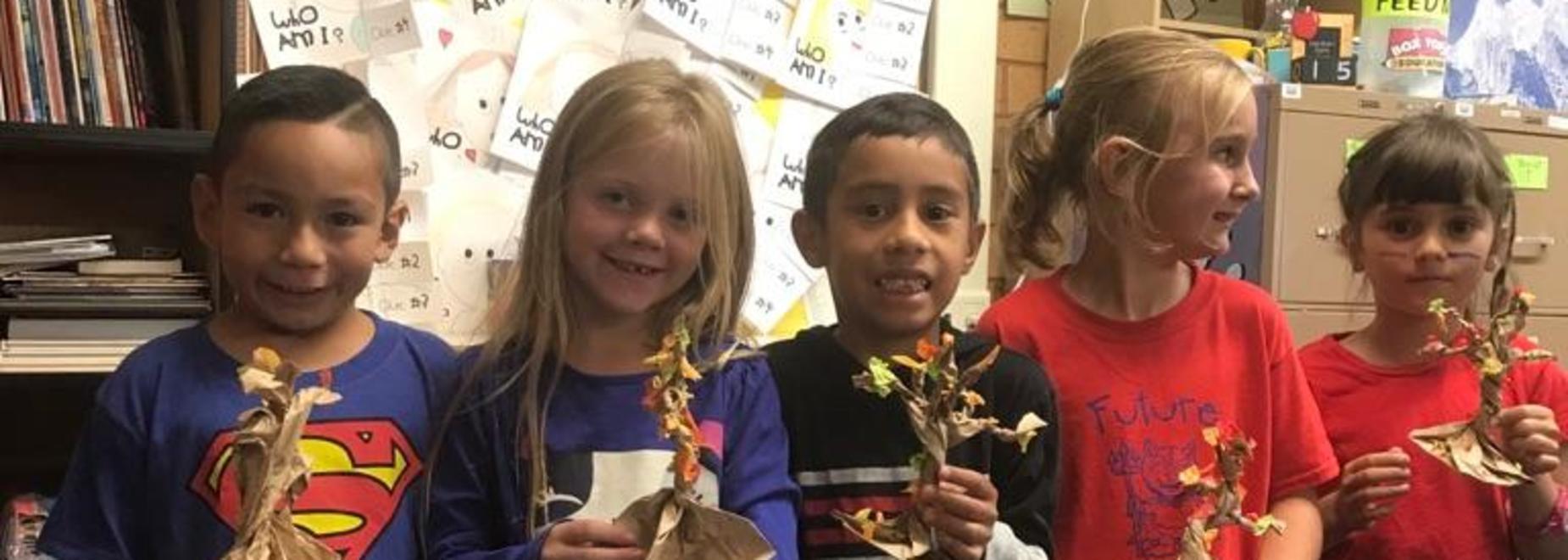 1st Grade did a fun craft!