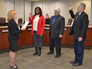 Board Members Sworn in by Superintendent Vicki Engbrecht