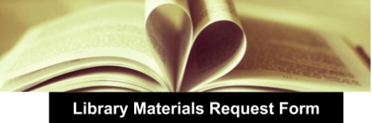 Materials Resource Request