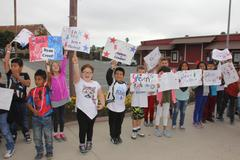 Oceano Elementary showing Veteran Support (Ride to Recovery)