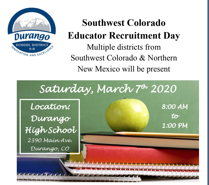 Educator recruitment day photo from flyer