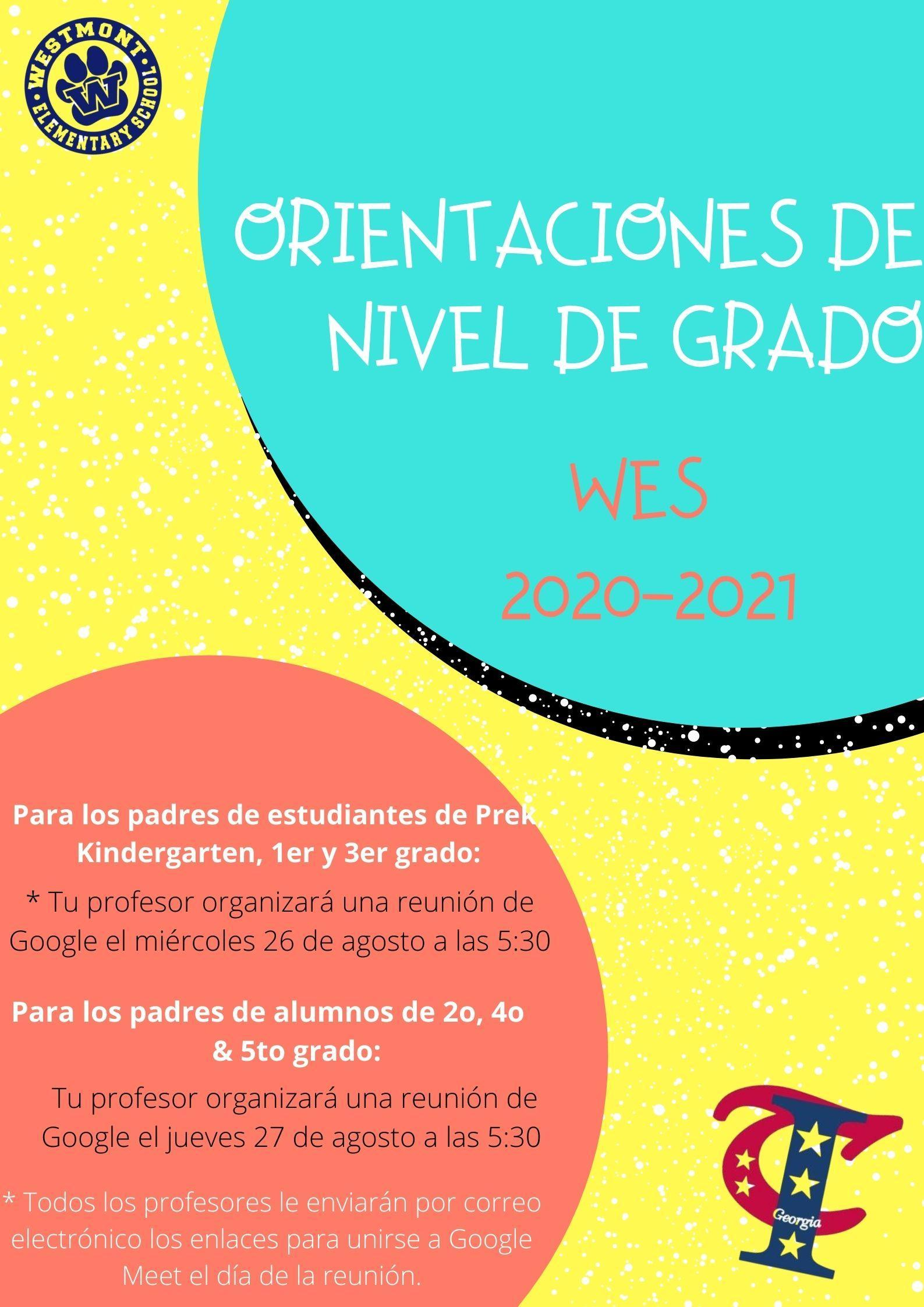 WES orientation Spanish