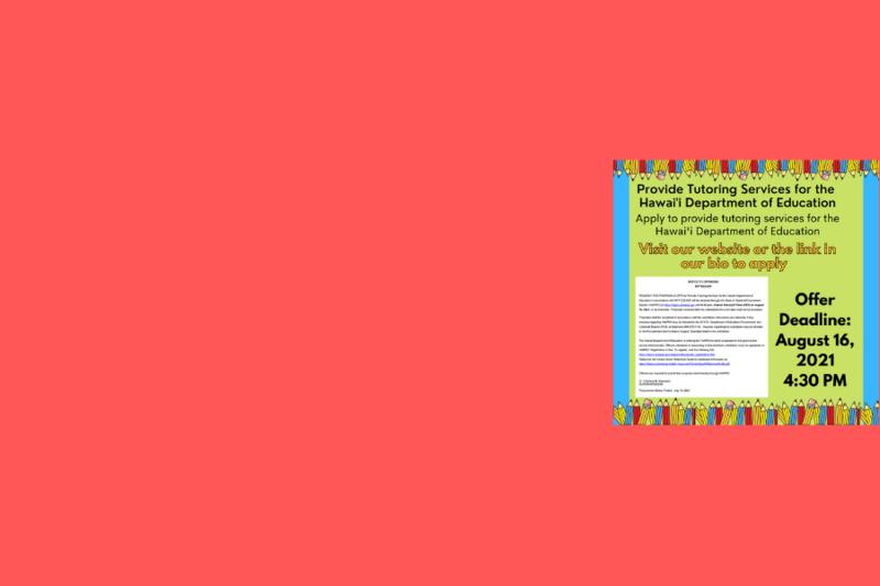 Tutoring Vendor Solicitation Application Featured Photo