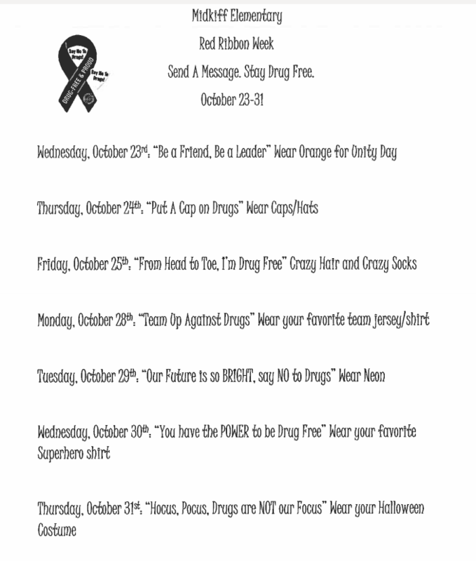 Red Ribbon Week- October 23-31, 2019 Featured Photo