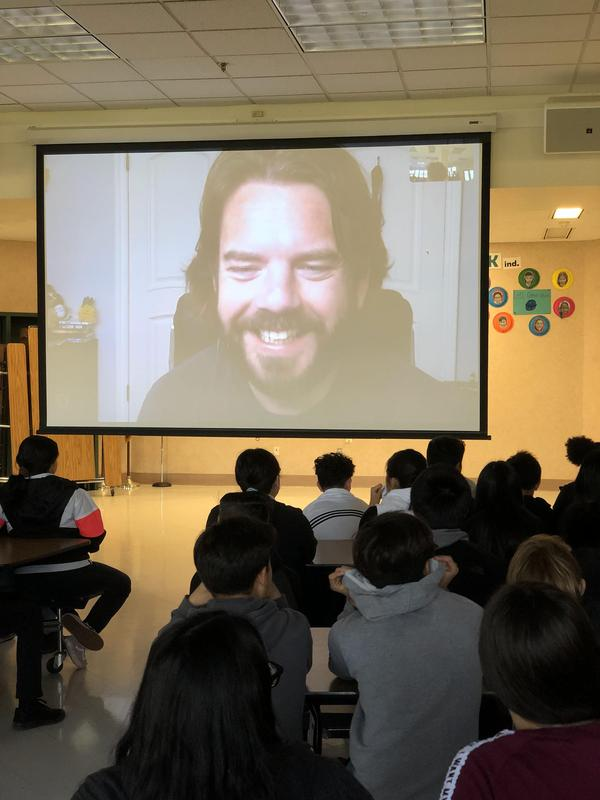 Astrophysicist Skypes with 8th Graders Thumbnail Image