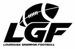 a graphic of a logo that says LGF Louisiana Gridiron Football