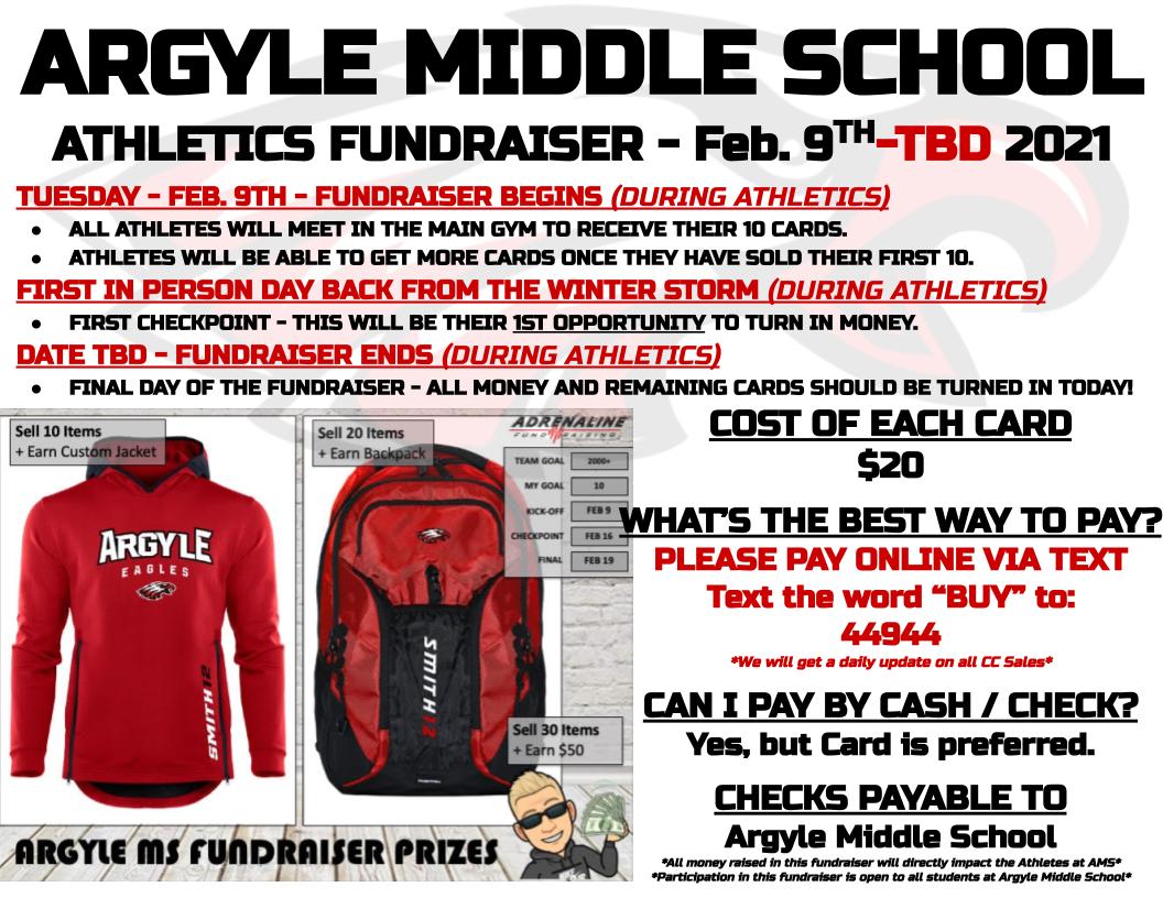 2021 Argyle MS Athletics Fundraiser Info - Updated 2-18