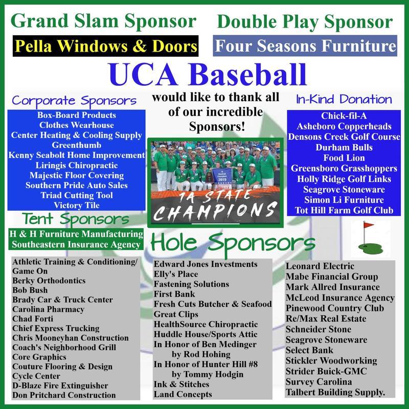 UCA Baseball Golf Tournament Fundraiser Featured Photo