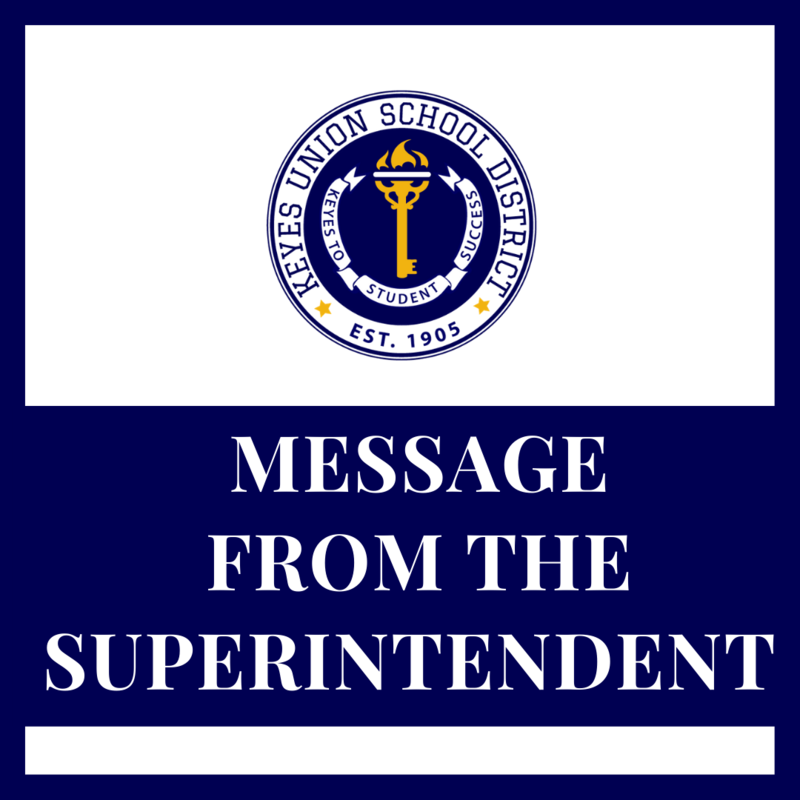 MESSAGE FROM THE SUPERINTENDENT FLYER