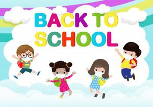 Image of back to school (covid) clipart