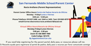 Parent Center office Hours