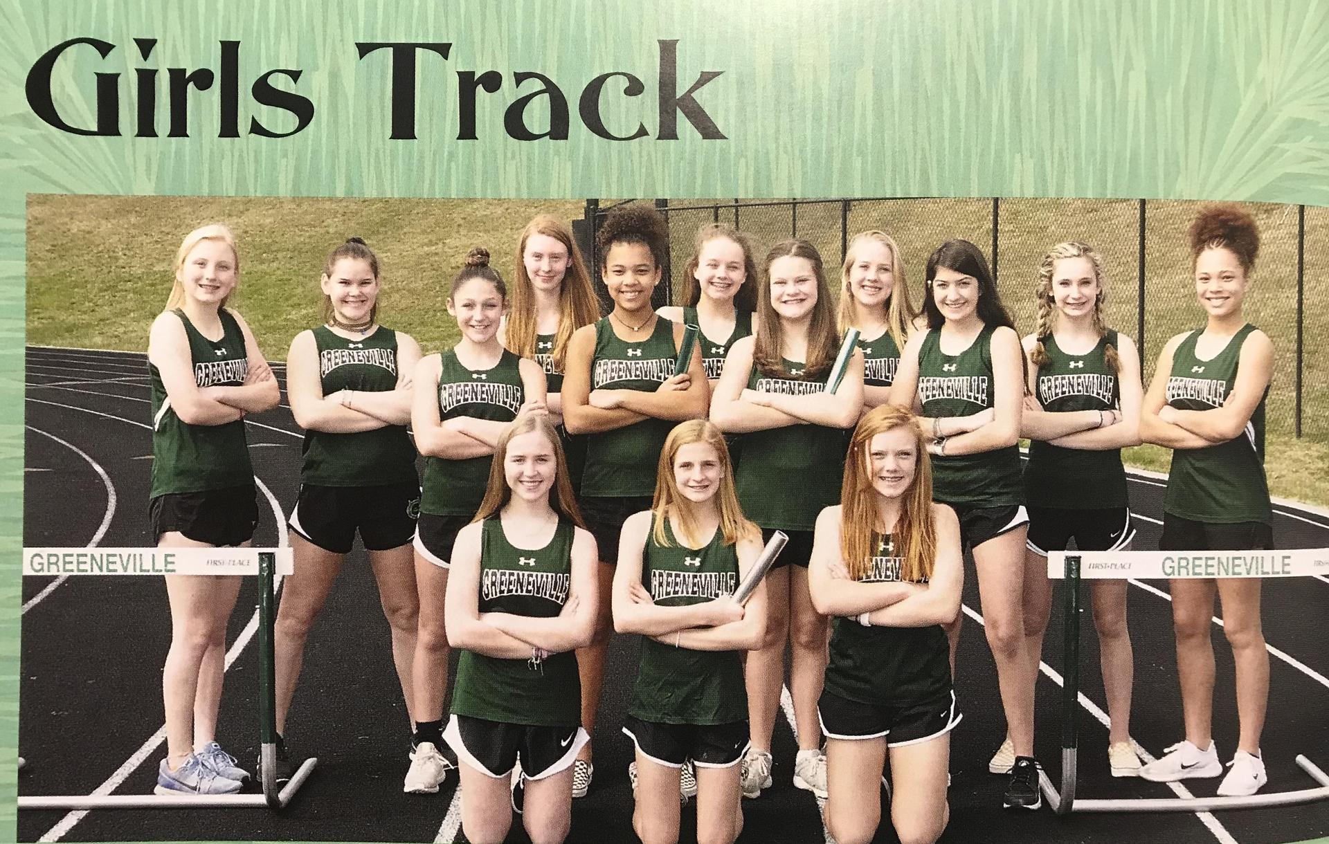 2018-2019 GMS Track Team (Girls)