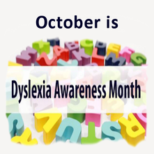 dyslexia month is October