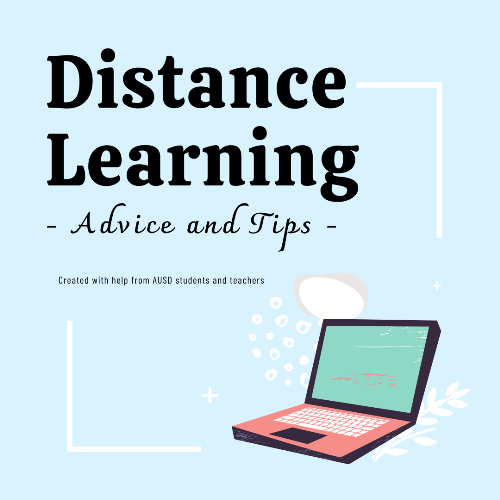 Distance Learning Advice and Tips cover
