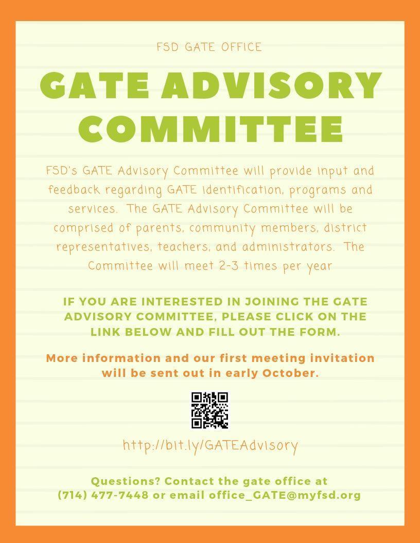 Advisory Committee Flyer