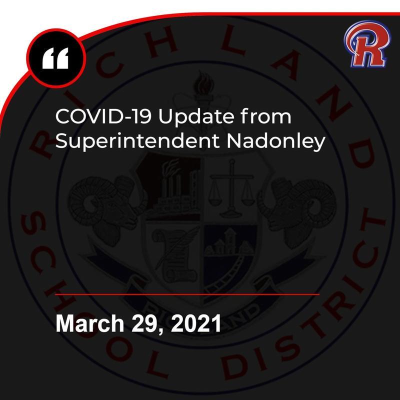 COVID-19 Update - 3-29-21 Featured Photo