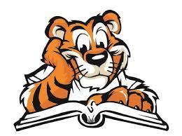 tiger with a book