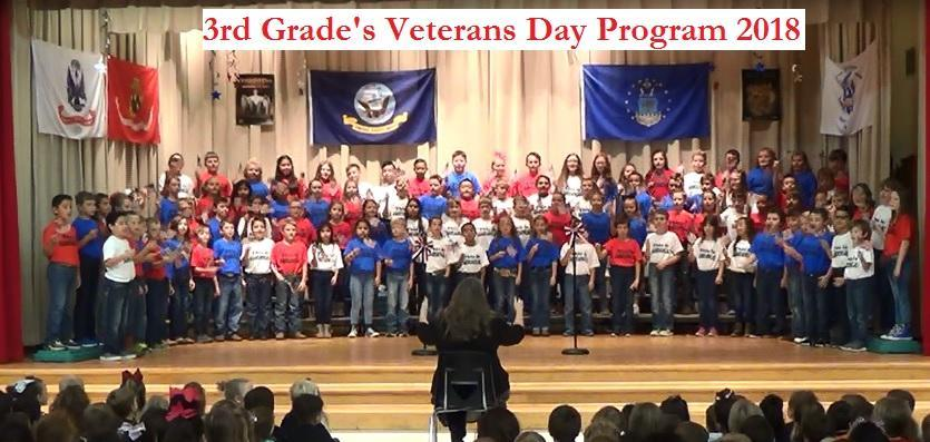 3rd Grade's Veterns Day Program 2018