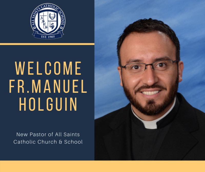 A picture of our new pastor, Fr. Manuel