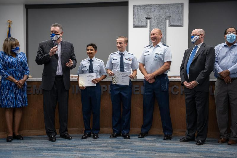 Temple HS Air Force JROTC recognized with Resiliency - COVID-19 Award Featured Photo
