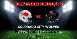 Ballinger Bearcats vs. Colorado City
