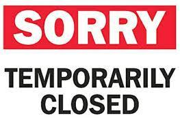 temp closed clipart
