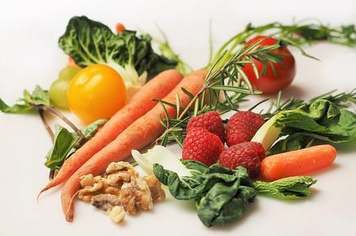 Photo of fresh vegetables and fruit.