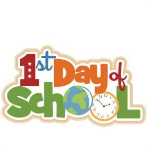 1st Day of School with clock