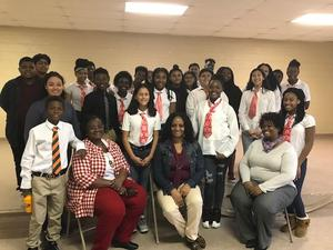 Students visit Robertville Community Center