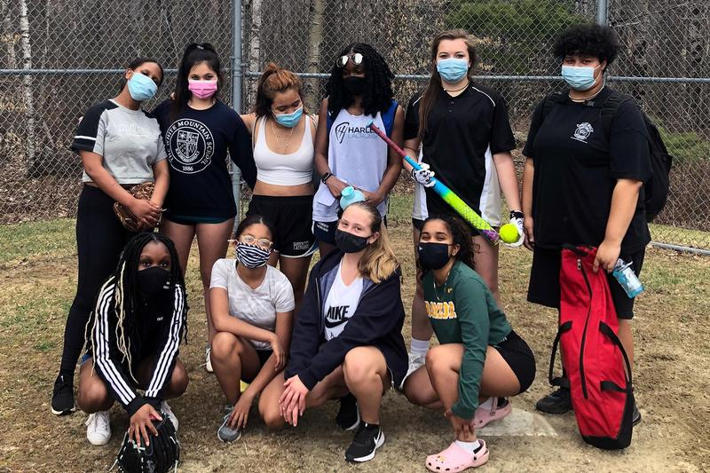 A group picture of White Mountain's new softball team.