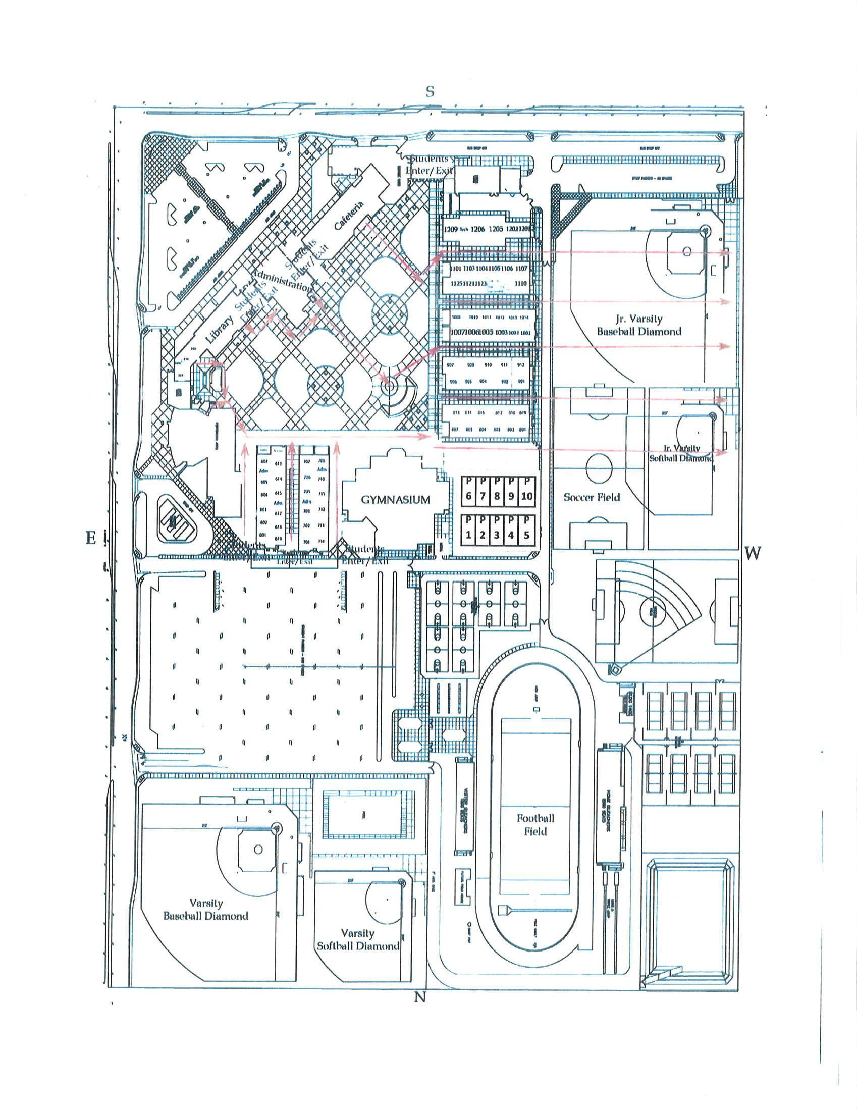 Independence High School Campus Map.Campus Map About Independence High School